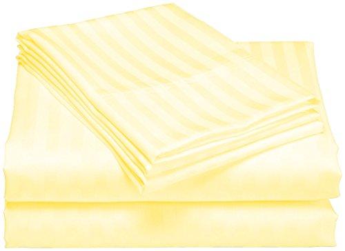 scalabedding 100% ägyptische Baumwolle 6Stück 400TC 76,2cm Deep Pocket-Bettlaken-Set-Cal King Butter Stripe - Cal-king-6 Stück