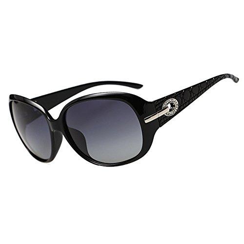 Duco Klassische Modische Damen Sonnenbrille mit übergroßen polarisierten Gläsern 100% UV-Schutz 6214