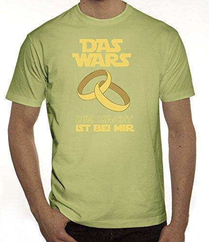 Junggesellenabschieds JGA Hochzeit Herren T-Shirt Das Wars - Die Macht ist bei mir Limone