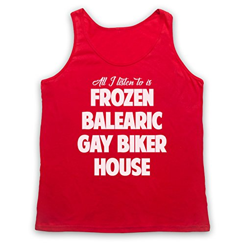 Frozen Balearic Gay Biker House Niche Dance Music Tank-Top Weste Rot