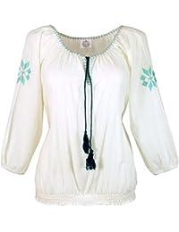 b4237292c7b7 Guru-Shop Leichte Sommerbluse, Bestickte Bluse, Damen, Weiß, Baumwolle,  Size 40, Blusen   Tunikas…