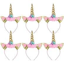 TOYMYTOY Pack de 6 cuerdas de unicornio cuerno Perfect Unicorn Party  Supplies Party Favor fd224b9450e4