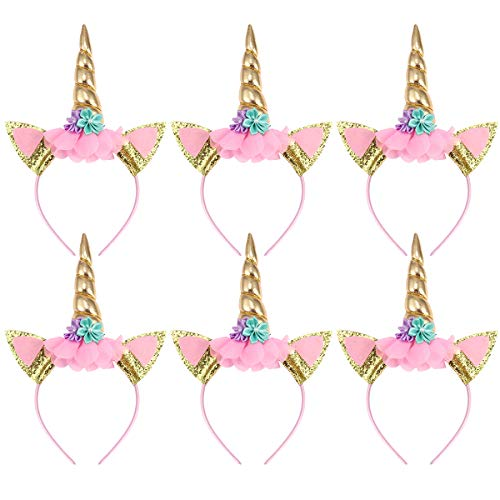 TOYMYTOY Pack de 6 cuerdas de unicornio cuerno Perfect Unicorn Party Supplies Party Favor