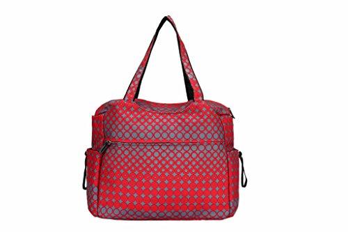 landuo Damen Baby Windel Windel Tasche groß rot rot