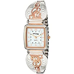 Montana Silversmiths Women's 'Time' Quartz Stainless Steel and Alloy Dress Watch, Color:Two Tone (Model: WCH60765RG)