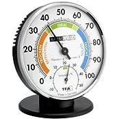 Basic 452033 Präzisions-Hygrometer Klimatest Chrom mit Standfuss