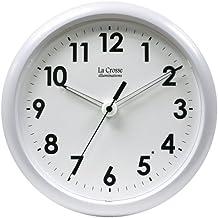 La Crosse Illuminated 403-310 10 Inch White frame clock by La Crosse Technology