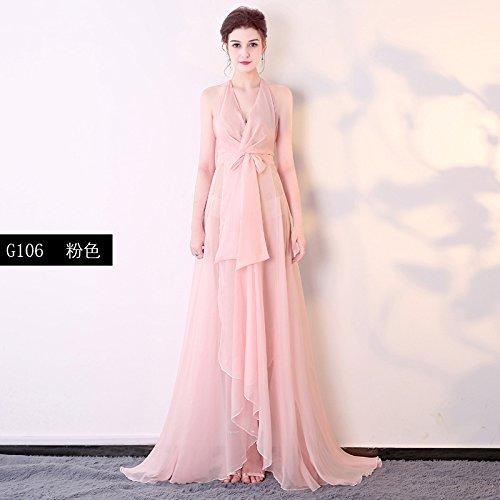 un lungo abito da cocktail nightclub ktv night bar yingbin vestito in abito da sera,,l rosa