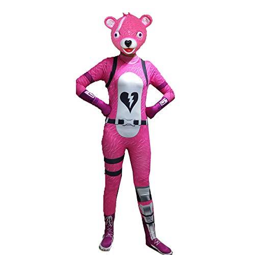 Kostüm Frauen Panda - BaronHong Halloween Unisex Lycra Spandex Cosplay Kostüme Frauen Panda 3D Style (pink, 160cm)