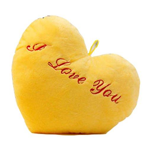 DZW Bunte Licht emittierende Kissen halten Plüsch Spielzeug Zum Valentinstag Weihnachten Geburtstagsgeschenk , yellow 2, Eine Vielzahl von (Top Kuchen Doppel Herz)