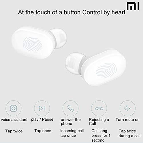 Xiaomi Mi Airdots Kabellose Kopfhörer, Bluetooth 5.0 - automatische Verbindung (Stereo) 12h Geräuschunterdrückung, Touch-Tasten, tragbares Ladegerät, CE-Zertifiziert (iOS & Android) weiß - 6