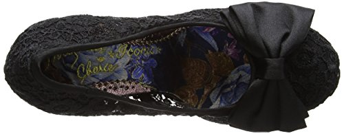 Irregular Choice Mal E Bow, Escarpins femme Black (Black Lace)