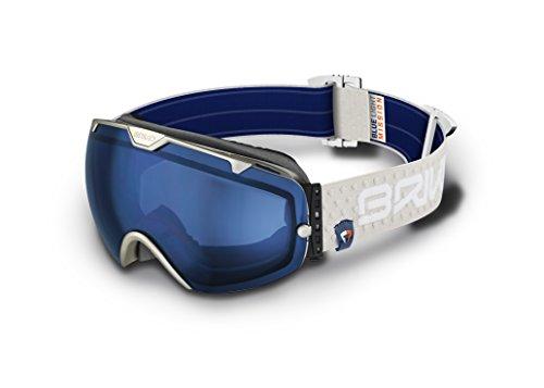 Briko Pompe – Masque de ski unisexe Gris, Taille unique