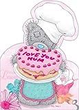 """Muttertagskarte, englische Aufschrift """"Me to You Love You Mum"""" (Von mir an dich, liebe dich)"""