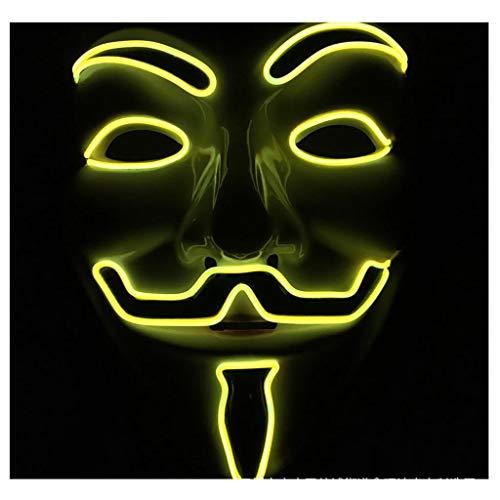 RKRXDH Halloween LED Maske Kostüm Party Glow Maske Urlaub Karneval Nachtclub Jubel Requisiten (ohne Batterie) (Color : (Jubel Kostüm Kinder)