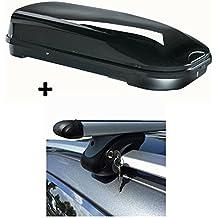 Box da Tetto Nero VDP fl580ampio tetto valigetta con serratura + Alu barra portatutto portapacchi per 580litri VW Golf Plus 05–1475kg