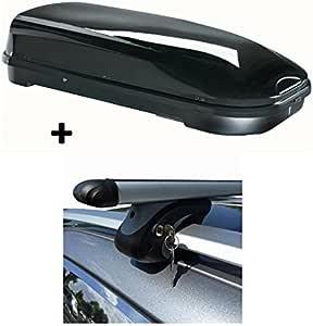 Dachbox Vdp Fl580 Relingträger Alu Kompatibel Mit Vw Touareg 7p5 Ab 10 Abschließbar Auto