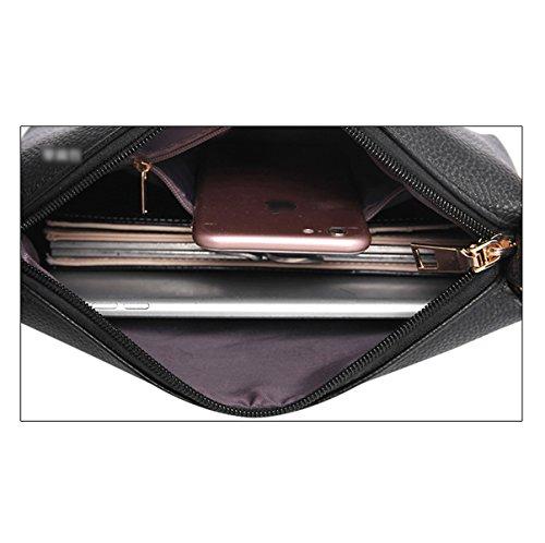 Donna Moda Nuova Borse A Tracolla Borse Pacchetto Xiekua Tre Pezzi Colore Solido Temperamento PU borsa Pink
