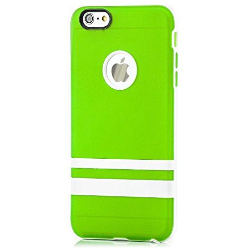 """Saxonia. Saxonia Coque de protection arrière en silicone/TPU pour Apple iPhone 6 Plus 5,5"""" Finitions de grande qualité orange vert"""