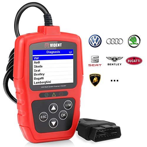 VIDENT VAG301 - Strumento diagnostico Completo per Auto, per Scanner VW/Audi/Seat/Skoda EOBD/OBD2 con ABS, SRS, SAS, EPB, TPA, BMS, Trasmissione e Olio