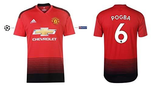 Manchester United 2018-2019 Home UCL Pogba 6 - Camiseta Infantil, 128
