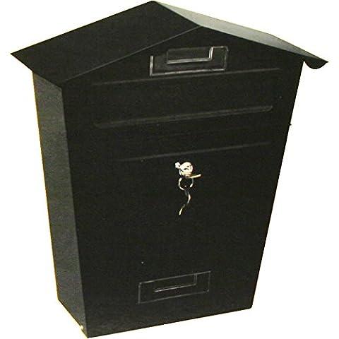 Generic tamaño grande nuevo negro blanco POST caja de buzón función de bloqueo de teclas de exterior buzón
