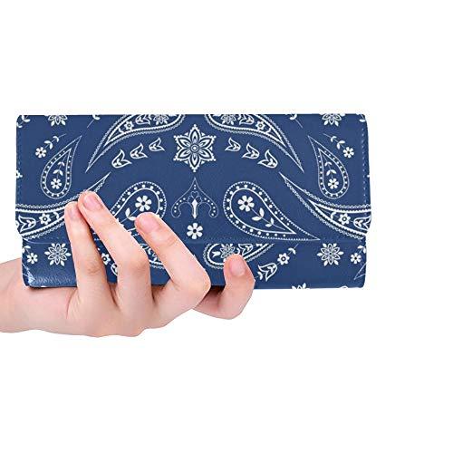 Einzigartige benutzerdefinierte Bandana schal Paisley floral Frauen Trifold Brieftasche Lange geldbörse kreditkarteninhaber Fall Handtasche