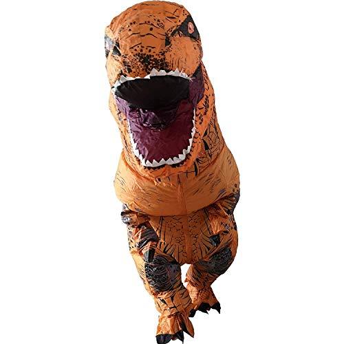 Dinosaurier Kostüm Erwachsene Aufblasbare Für - Ohlees Men's T-Rex Inflatable Dinosaur Costume aufblasbare Dinosaurier Anzüge und Kostüme Festival Party Park für Erwachsene größe (Braun)