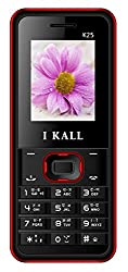 I KALL K25 1.8 Inch Display Dual Sim Mobile with Leather Back- Red