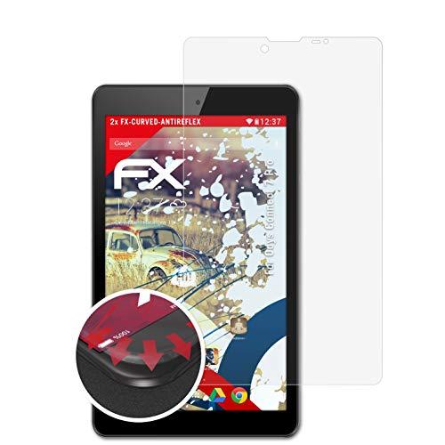atFolix Schutzfolie passend für Odys Connect 7 Pro Folie, entspiegelnde & Flexible FX Bildschirmschutzfolie (2X)