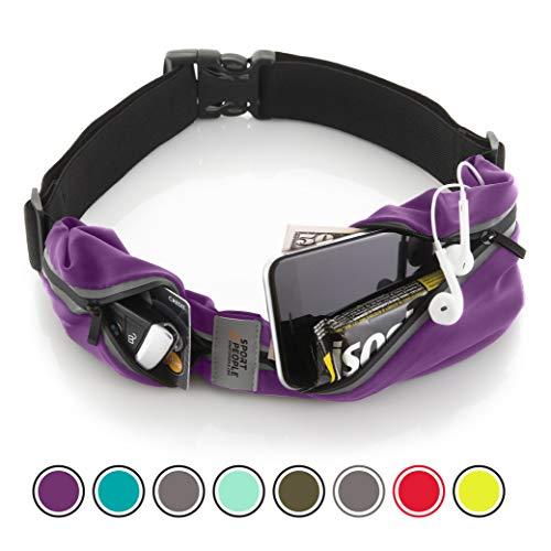 Cintura da corsa - iphone x 6 7 8 plus sacchetto per corridori. riflettente marsupio porta telefono. corsa accessori per uomini, donne (viola)
