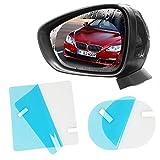 Homeyia - Espejos retrovisores para coche y ventana lateral de cristal, película protectora para puntos ciegos, impermeable, antiniebla, antideslumbrante, resistente a la lluvia