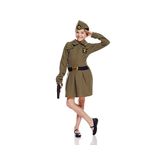 Unbekannt AEC aq02034/M Kostüm Soldat Mädchen 7/9Jahre, Größe M (Soldat Mädchen Kostüm)