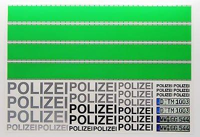 RC 'POLIZEI' Deutsch POLIZEI stil Aufkleber sticker grün streifen Polizeiauto Drift