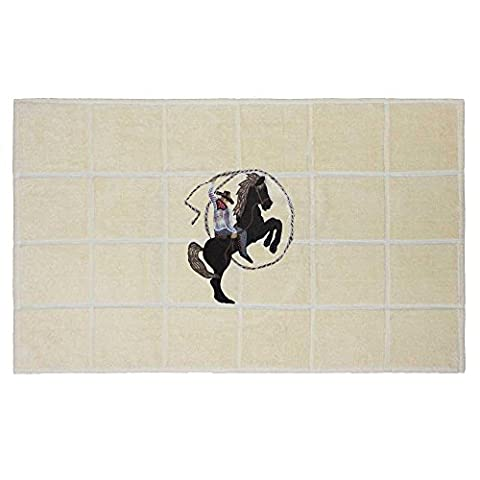 Patch Magic Cowboy Bath Mat, 34-Inch by 21-Inch