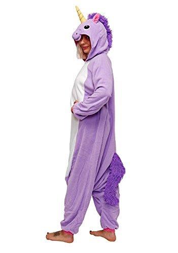 Einhorn Kostüm – Jumpsuit Cosplay, Tier Schlafanzug, Onesie für Erwachsene - 3