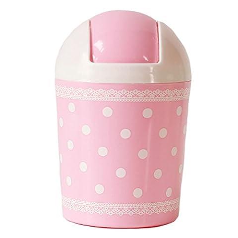 2PCS Mignon Mini poubelle poubelle avec couvercle Wastebasket pour bureau,