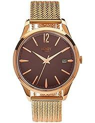 Henry de Londres Unisex Reloj de pulsera Hampstead analógico de cuarzo Acero inoxidable hl39de m de 0078