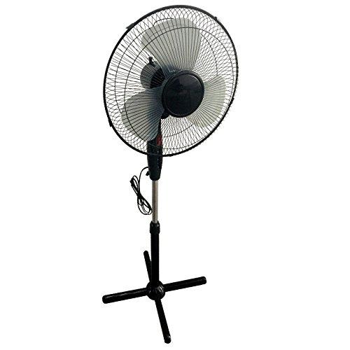 Preisvergleich Produktbild Standventilator Ventilator 3 Stufen oszillierend 130 cm mit Nachtlicht schwarz