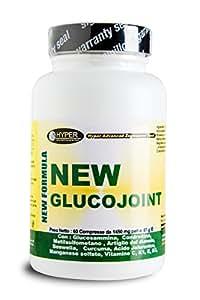 Glucosamine - Coindroïtine | Compléments de douleurs articulaires | 1 paquets à partir de 60 comprimés | Arthrose de la douleur artérielle idéale | Formulation avec: Glucosamine - Coindroïtine - MSM - Griffe du diable - Curcuma - Boswellia - Acide jaluronique - Manganèse - Vitamine C - Vitamine K1 - Vitamine E - Vitamine D3 | New glucojoint Hyper