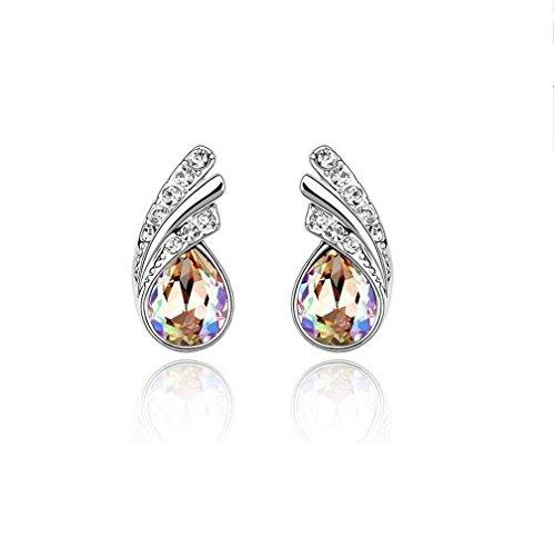 Erica Boucles d'oreilles plaqué or mousseux cristal autrichien cadeau parfait pour les femmes #3