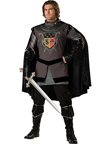 Generique Schwarzer Ritter-Kostüm für Herren - Deluxe XL
