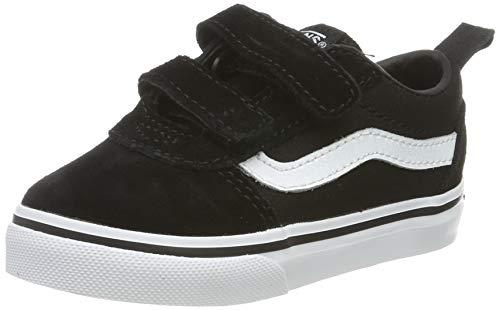 Vans Ward V-Velcro, Zapatillas Unisex bebé, Negro ((Suede/Canvas) Black/White Iju), 22 EU