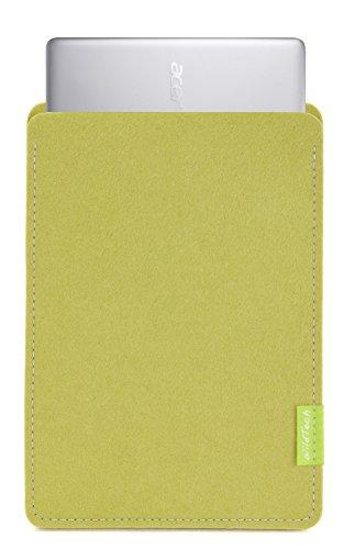 WildTech Sleeve für Acer Chromebook 14 (CB3-431-C6UD) Hülle Tasche aus echtem Wollfilz - 17 Farben (Handmade in Germany) - Lindgrün