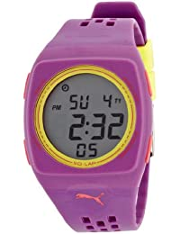 Puma Faas 300 Unisex Digital Watch with LCD Dial Digital Display and Purple Plastic or PU Strap PU910991005