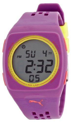 PUMA TIME PU910991005 - Orologio da polso, cinturino in plastica colore porpora