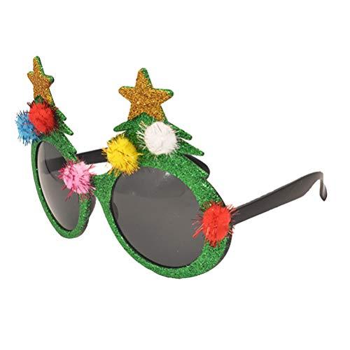 BESTOYARD Weihnachten Brille Spaßbrille Partybrille Kinder Erwachsene Kostüm Weihnachtsdeko(Weihnachtsbaum)