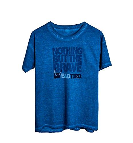 Badtoro T-Shirt Nothing But The Brave T-Shirt gefärbt in blauem Denim (medium) - Gefärbtes T-shirt
