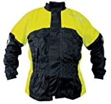 Richa Fluo Rain Warrior Textile Motorcycle Jacket - Large (Black Fluo)