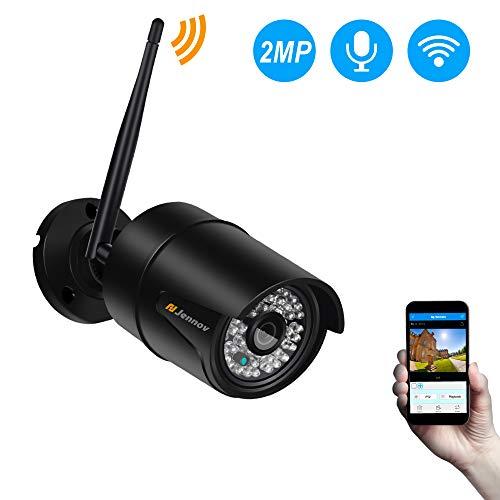 Jennov Überwachungskamera aussen WLAN/LAN, IP WiFi Kamera Videoüberwachung CCTV mit Full HD 1080p und 30m IR Nachtsicht für Innen Outdoor (IP66)...